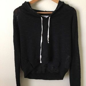 Hollister Xs/s Cropped Hoodie Sweater
